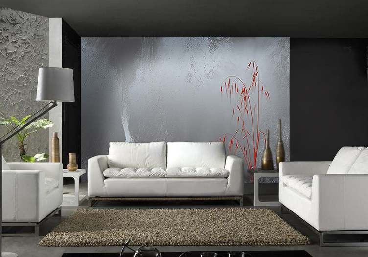 papier peint design sur un seul mur
