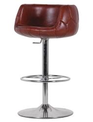fauteuil bar ballon cuir metal