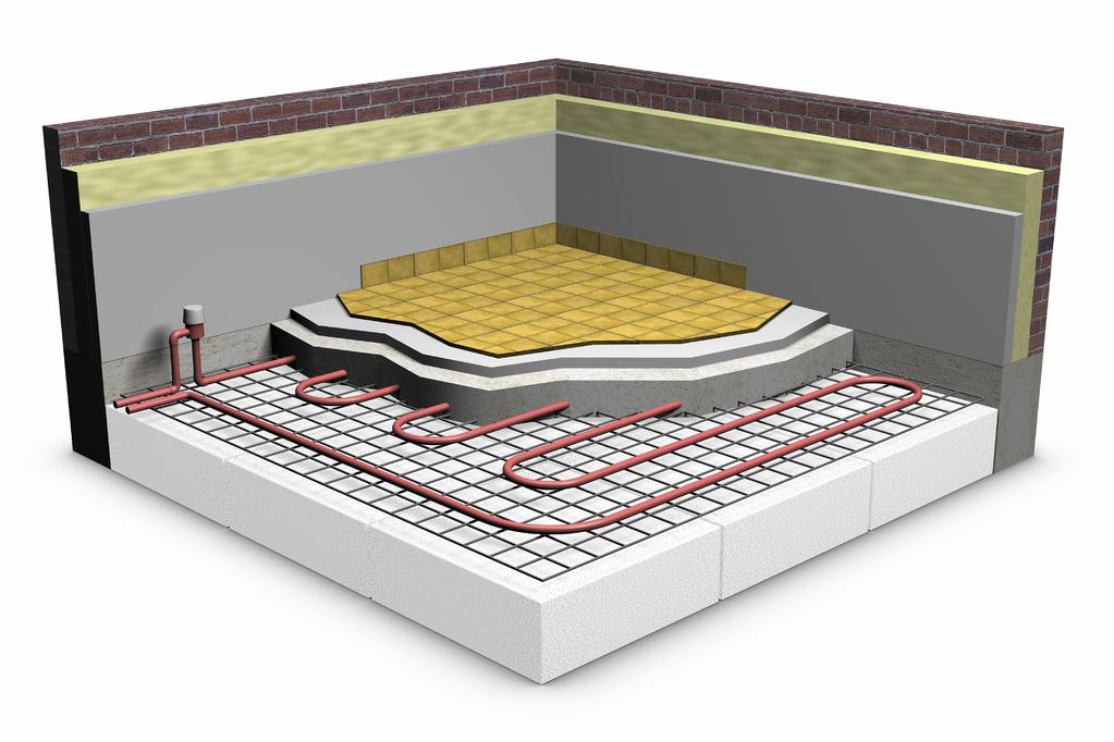 plancher chauffant image 3D