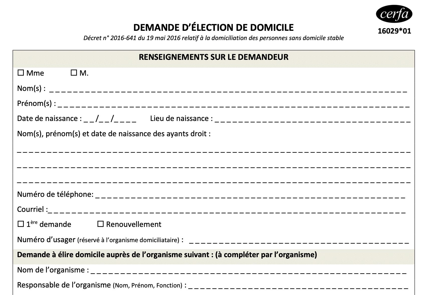 procédures administratives pour un changement d'adresse ou pour l'achat/vente d'un véhicule